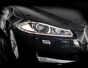 Jaguar XF & XFR Chrome Headlight Trim Surrounds (2012- Newer)