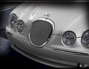 Jaguar S-Type Mesh Grille Insert (Bright stainless or Black)