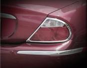 Jaguar S-Type Chrome Taillight Trim Finisher set 99-2004 models
