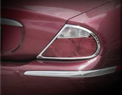 Jaguar S-Type Chrome Taillight Trim Finisher set 05-2008 models