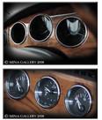 Jaguar XK8 & XKR Chrome Dash Instrument Ring set 3pcs kit