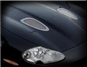 Jaguar XKR Custom Hood Mesh Grille Louvers