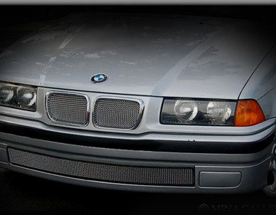 BMW 3 series Lower Mesh Grille Black or Bright Stainless  91-1998