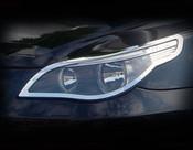 BMW 5 Series Chrome Headlight Trim Finisher set 2004-2009