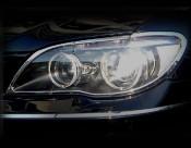 BMW 7 Series; 750 Chrome Headlight Trim Finisher set 2006-2008