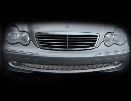 Mercedes C-Class Lower Mesh Grille 1pcs Version 2001-2007