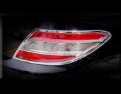 Mercedes C-Class Chrome Taillight Trim Finisher set 2008-2011