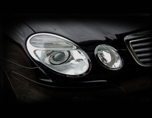 Mercedes E-class Chrome Headlight Trim Finisher set 2003-2009