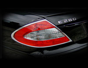 Mercedes E-class Chrome Taillight Trim Finisher set 2003-2009