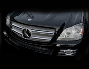 Mercedes GL450 & GL320 Upper and Mid Mesh Grille Overlays  07-09
