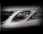 Lexus GS Small Inner Headlight Chrome Trim Finisher Set 2005-2007