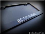 Supercharged Black License Plate Frame
