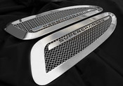 Jaguar XFR Supercharged Mesh Hood Louver set (bright stainless of paint finish options) 2012-Newer