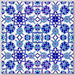 Ceramic tile - Style 009 - 20x20cm