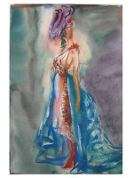 Fashion Illustration - Water Colors - Spring 2018 - Saturday Session 6