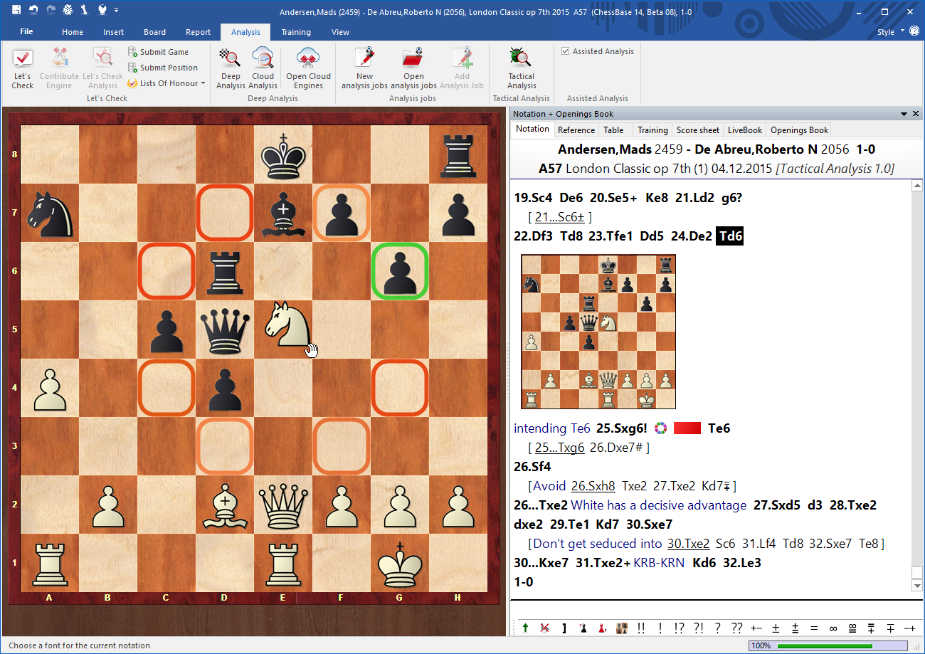 ChessBase 14 Chess Software Analysis