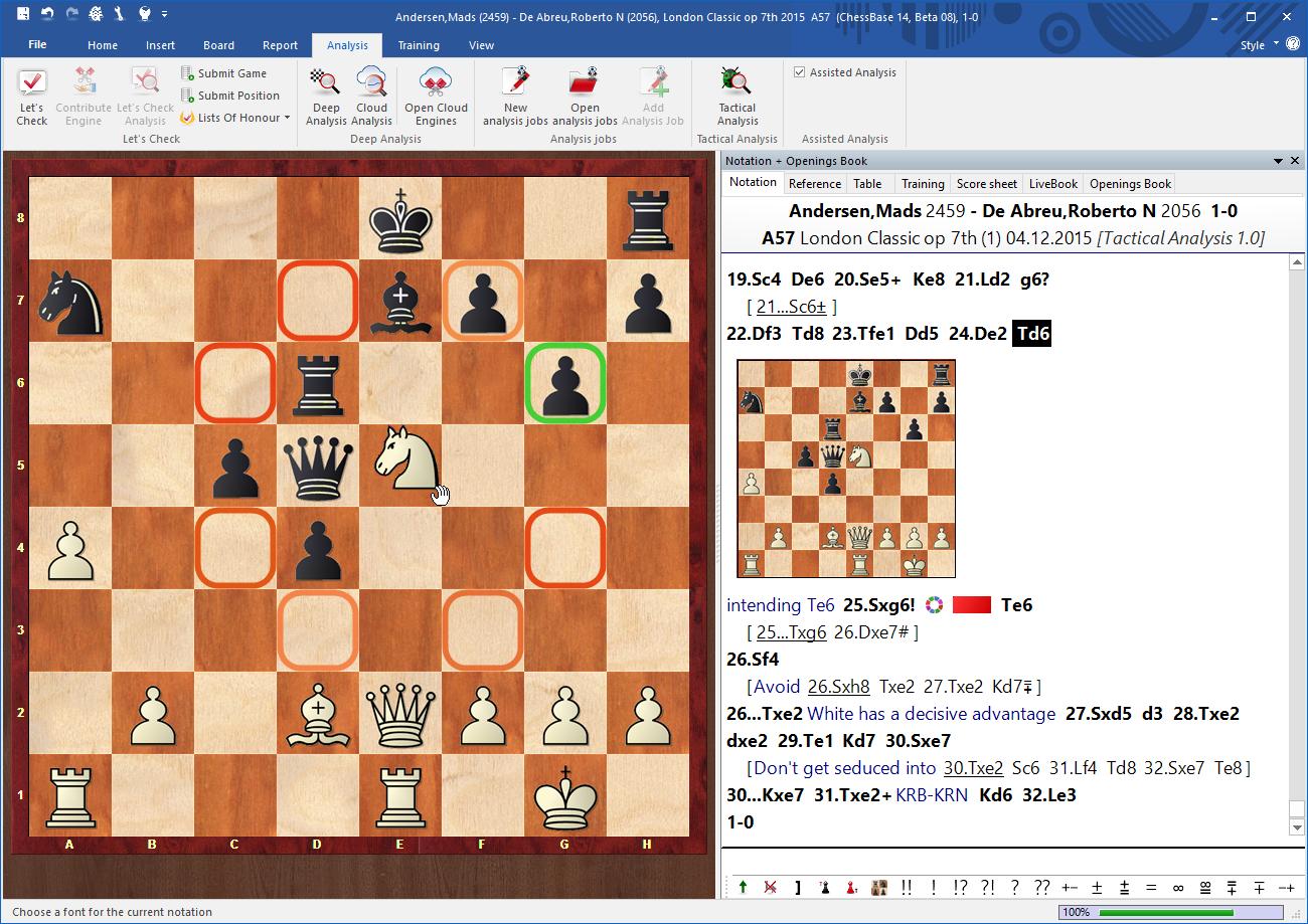 ChessBase 14 Chess Software Analysis