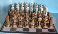 Greek and Roman Theme Chess Set - Fun to Play on