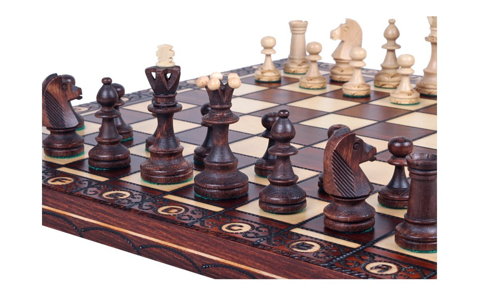 The Jarilo Unique Wood Chess Set Board Storage