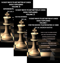 10 Easy Ways to Get Better at Chess, 3 Volume Set DVD