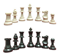 Value Collection: 34 Triple-Weighted Chess Pieces (2 Extra Queens) &  Folding Chess Board
