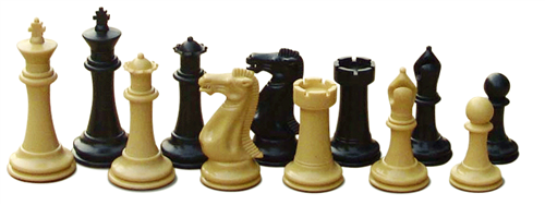 Chess Set: Quadruple Weighted Chess Pieces (2 Extra Queens) & Green Folding Chess Board