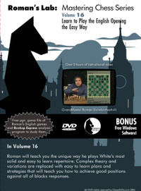 Roman's Chess Labs:  16, Learn to Play the English Opening the Easy Way DVD