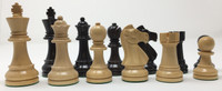 "Baron Chess Pieces in Black Lacquer with 3.75"" King"