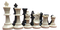 Travel Tournament Chess Set, 34 Chess Pieces (2 Extra Queens), Chess  Board and Canvas Archer Quiver Tote Bag chess pieces