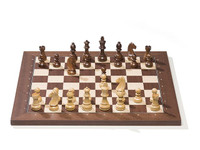 DGT e-Board with Timeless Chess Pieces and Rosewood Chess Board