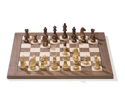 DGT e-Board with Timeless Chess Pieces and Walnut Chess Board