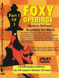 Foxy Chess Openings: Modern Defence Part 1-3 Chess Opening DVD