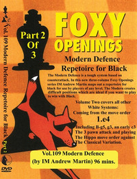 Foxy Chess Openings,  109: Modern Defense Part 2 Chess Opening DVD
