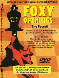 Foxy 147: A Winning 1.e4 e5 Repertoire for Black (Part 2) - Chess Opening Video DVD