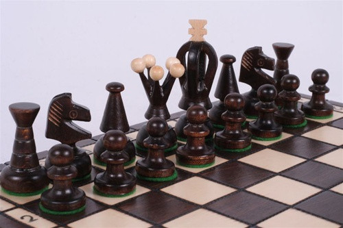 The Veles - Unique Hand Crafted Wood Chess Set, Chess Pieces, Chess Board & Storage