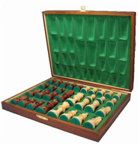 Deluxe Staunton Wood Chess Pieces and Coffer Storage Box