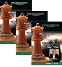 Susan Polgar: Mastering the French Part 1-3,  11-13 DVD