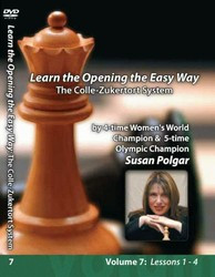 Susan Polgar, 7: The Colle-Zukertort System Chess Opening DVD