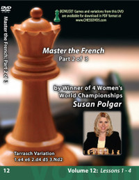 Susan Polgar, 12: Mastering the French Chess Opening Part 2 DVD