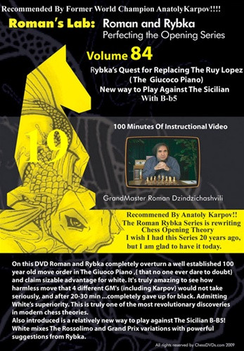 Roman's Chess Labs:  84, Rybka's Quest to Replace the Ruy Lopez Chess DVD