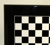 "Italian Laquered Black Chess Board 1.4"""