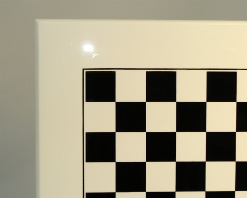 "Italian Laquered White Chess Board 1.4"""