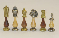 Staunton Metal and Wood  Chessmen