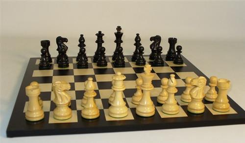 Black Lardy Classic and Black/Maple Chess Board