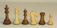 Golden Rosewood Camelot Chess Pieces