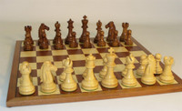 Golden Rosewood Mustang on Sapele/Maple Chess Board