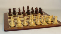 Chess Set:  Rosewood Exclusive with Padauk Chess Board
