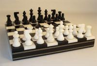 Black & White Alabaster Inlaid Chest