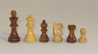 Golden Bordeaux-Golden Rosewood and Natural Boxwood French Knight Chess Pieces