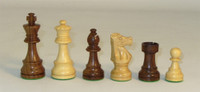 Golden Bordeaux Delux Chess Pieces- Golden Rosewood and Natural Boxwood French Knight